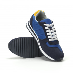 Мъжки класически маратонки в ярко синьо 2