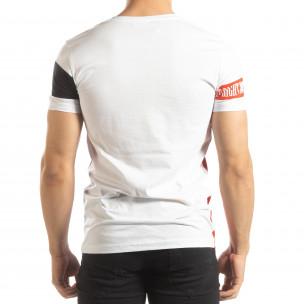 Бяла мъжка тениска Be Creative  2