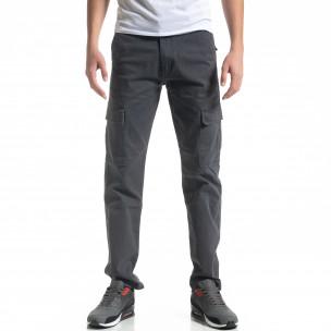 Мъжки карго панталон в сиво Regular fit