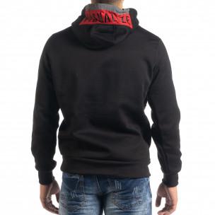 Мъжки суичър hoodie с червен акцент  2