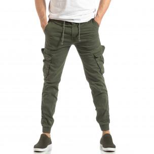 Мъжки Cargo Jogger в милитъри зелено  2