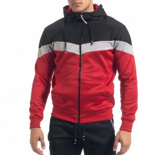 Biker мъжки спортен комплект в червено и черно  2