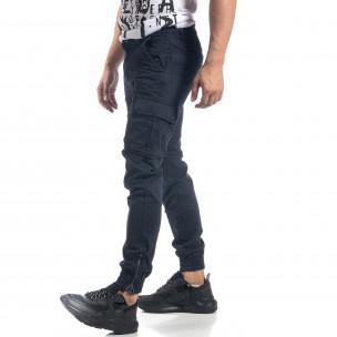 Мъжки син карго панталон ватиран