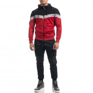 Biker мъжки спортен комплект в червено и черно