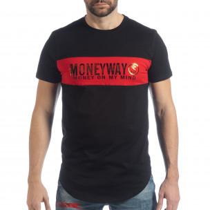 Мъжка черна тениска Money Way  2