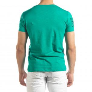 Зелена мъжка тениска принт Watch 2