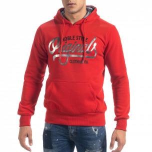 Мъжки суичър hoodie в червено Originals