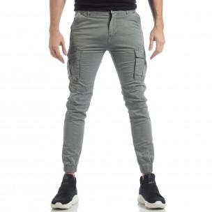 Мъжки Jogger карго панталон в сиво XZX-Star 2