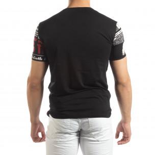 Мъжка тениска Exclusive News в черно 2