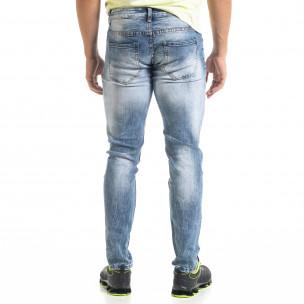 Slim fit мъжки сини дънки  2