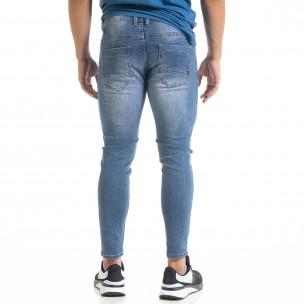 Мъжки сини скъсени дънки Capri fit 2