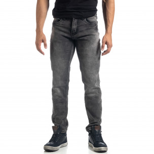 Еластични мъжки сиви дънки Regular fit