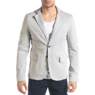 Спортно мъжко сако в сиво 2