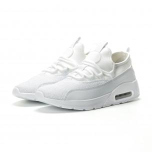 Леки мъжки Air маратонки комбинирани в бяло 2