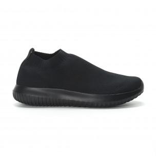 Ниски мъжки маратонки тип чорап All black