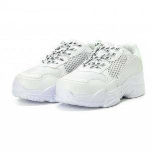 All white мъжки комбинирани маратонки  2