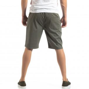 Basic мъжки къси панталони в зелено 2
