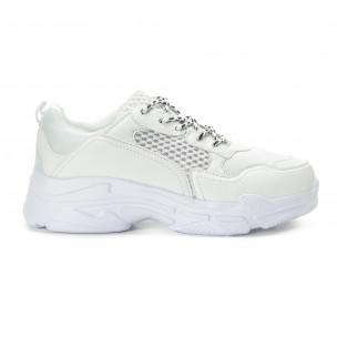 All white мъжки комбинирани маратонки