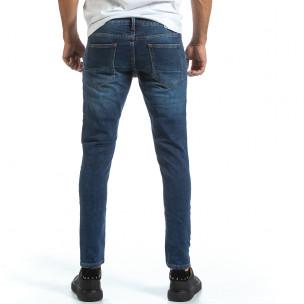 Basic Slim мъжки сини дънки  2