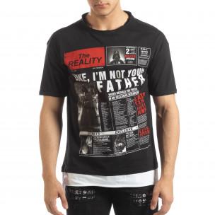 Мъжка черна тениска Darth Vader
