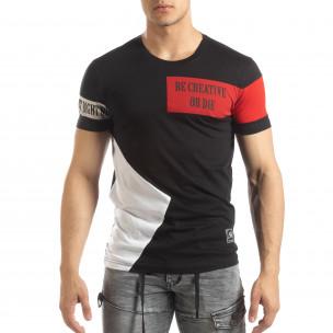Черна мъжка тениска Be Creative