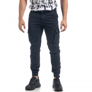 Мъжки син карго панталон ватиран  2