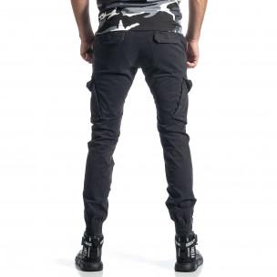 Сив панталон Cargo Jogger с ципове на крачолите  2