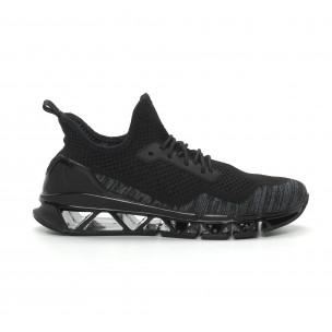Леки мъжки маратонки Knife в черно и сиво