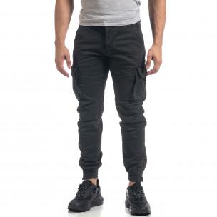 Мъжки сив карго панталон ватиран