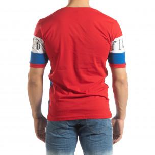 Мъжка тениска с червени и сини блокове 2