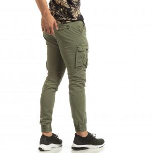 Мъжки зелен Cargo Jogger в рокерски стил
