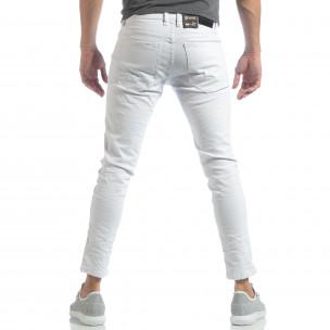Skinny мъжки бели дънки намачкани  2