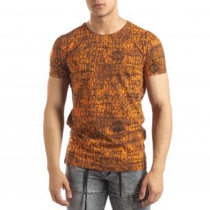 Vintage мъжка тениска в оранжево