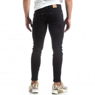 Тънки мъжки черни дънки Skinny fit   2