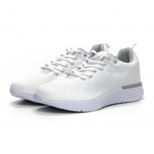 Плетени мъжки бели маратонки 2