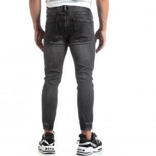 Мъжки черни джогър дънки Loose fit  2