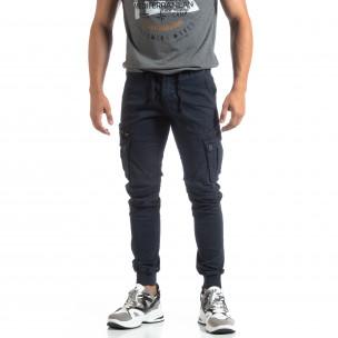 Мъжки син панталон Cargo Jogger   2