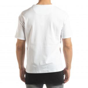 Мъжка бяла тениска Darth Vader  2