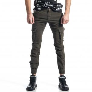 Зелен панталон Cargo Jogger с ципове на крачолите