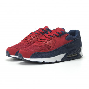 Мъжки Air маратонки в деним и червено 2