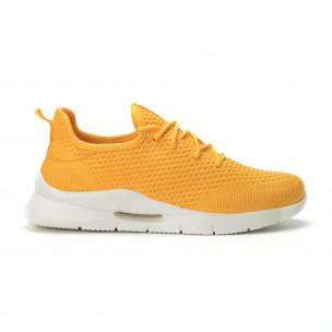 Мъжки леки жълти маратонки Hole design