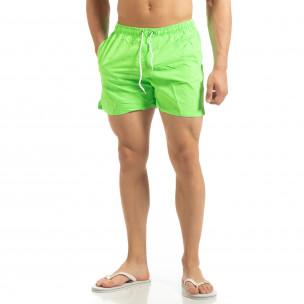 Basic мъжки бански в неоново зелено