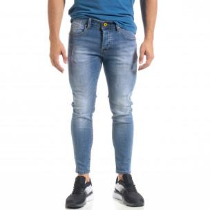 Мъжки сини скъсени дънки Capri fit