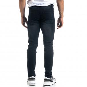 Slim fit мъжки черни дънки  2