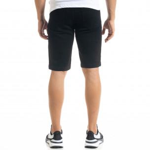 Basic Slim fit мъжки черни къси дънки 2