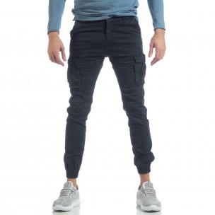Мъжки Jogger карго панталон в синьо