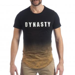 Черна мъжка тениска Dynasty  2