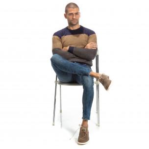 Slim fit мъжки дънки в синьо  2