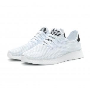 Ултралеки мъжки маратонки Mesh в бяло 2