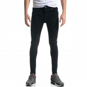 Basic мъжки черни дънки Skinny fit